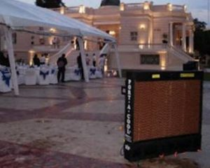 How to cool an outdoor event