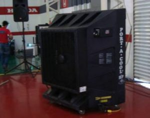Portable air cooler for outdoor event
