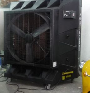 evaporative cooler for industrial applications